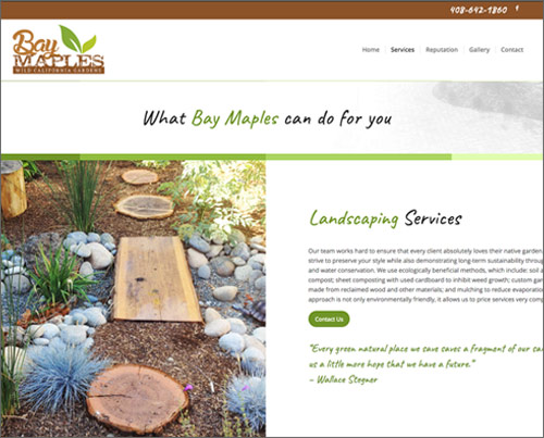 Bay Maples website