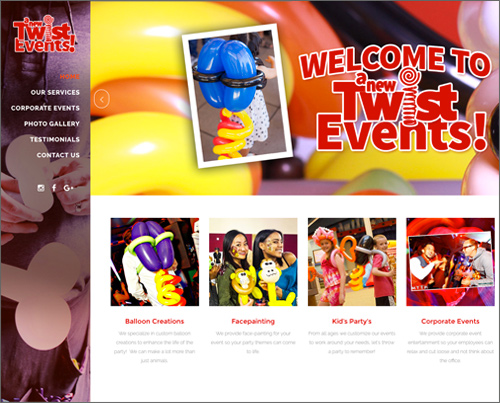 website design - photography