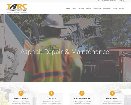 Tarc Inc Website Design