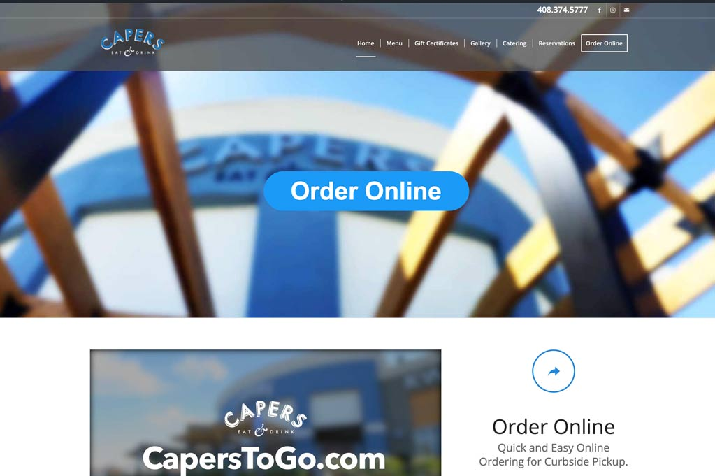 Capers Website Design